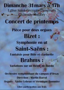 Dimanche 31 Mars, 17h : Concert de Printemps